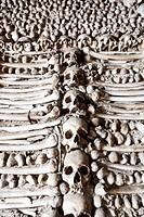 Chapel of human bones at Campo Maior Our Lady of Da Expectaçao Church, Portugal.