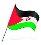 flag of Sahrawi Arab Democratic Republic vector illustration