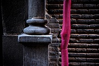 Red hose and column, Toledo , Spain