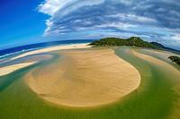 Aerial View of Kosi Bay. KwaZulu Natal. South Africa.
