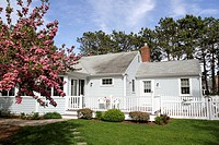 Springtime view of a home in Dennis, Massachsuetts, United States, North America. Editorial use only.
