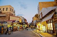 Chalidon street, Hania, Chania, Crete island, Greece.
