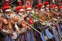 Goroka festival, 140 ethnic tribes come together for three day Sing sing, Goroka, Eastern Highlands, Papua New Guinea.