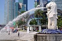 Singapore, the Merlion Fountain.