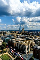 View of London from St. Pauls Cathedral, England, United Kingdom.