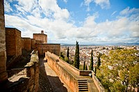 Plaza de las Armas (Weapons Square), Alhambra in Granada, Alcazaba (Granada, Spain, Andalusia, Europe).