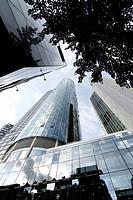 Modern architecture in Frankfurt am Main, Germany, Europe.