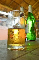 cold-beer-glass and bottle,Goa,India.