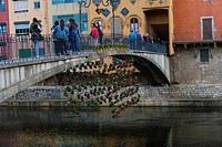 FLORAL ART EXHIBITION IN GIRONA. CATALONIA. SPAIN.