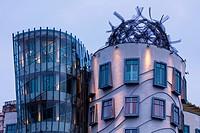 Dancing House, Tancici dum, Jiraskovo Street, Prague, Czech Republic, Europe.
