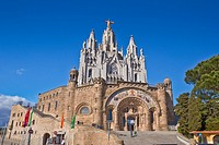 Spain, Catalonia, Barcelona City, Tibidabo Peak, Holly Heart Church.