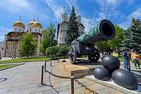 The most big bronze cannon in the world, Kremlin (Moscow, Russia)