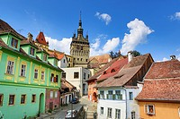 Romania, Mures County, Sighisoara City, The Citadel, Clock Tower.