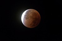 lunar eclipse and blood moon of 28th September 2015, Germany.