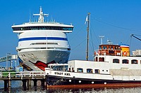 Cruise Ship of Aida Cruises at Kiel port, Schleswig-Holstein, Germany.