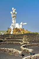 Monumento Al Campesino landmark sculpture by artist Cesar Manrique. San Bartolome, Lanzarote, Canary Islands, Spain.