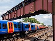 europe, UK, England, Surrey, Raynes Park station.
