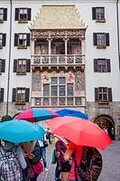 Goldenes Dachl, The Golden Roof, Herzog-Friedrich-Strasse, Innsbruck, Austria.