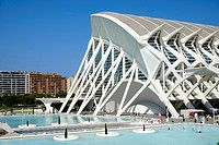 Principe Felipe Science Museum in Valencia Spain.