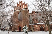 Nikolaikirschplatz where is Saint Nicholas church Berlin Germany.