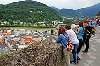 Salzburg from the Hohensalzburg Castle, Austria