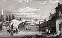Sarah's Bridge - now called Island Bridge - Over the River Liffey,. Dublin City,. Ireland.