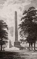 The Wellington Monument in Phoenix Park,. Dublin City, Ireland.