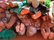 Dolls feet.