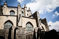 View of Girona - Gothic Cathedral.
