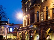 Theatre Royal at Dusk City of York Yorkshire England.