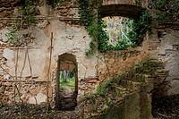 Remains of old constructions, Chella, Canal de Navarrés, Valencia province, Comunidad Valenciana, Spain