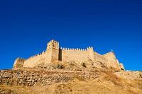 Sancho IV castle (c. 1293) Santa Olalla del Cala, Huelva, Andalusia, Spain, Europe.