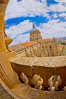City View from Old Cathedral of Salamanca, Cathedral of the Asunción de María, Gothic Renaissance Baroque Style,16th-18th century, Spanish Property of...