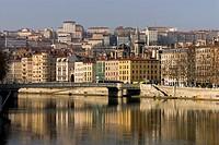 Rhône River, UNESCO World Heritage Site, Lyon, France, Europe