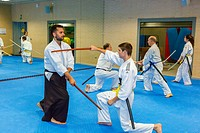 Aikido martial art school.