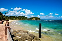 Tropical paradise on the island of Frades in the Bay of All Saints in Salvador Bahia Brazil.