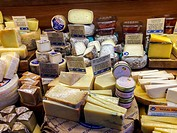 San Francisco, CA, USA, Organic American Cheese on Display in Grocery Store