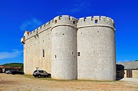 Fortified St Mary's Church, Vrboska, Hvar Island, Croatia, Dalmatia, Dalmatian Coast, Europe.
