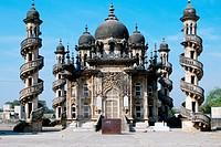 Mahabat Makbara mausoleum mosque with minaret Junagadh Gujarat India.