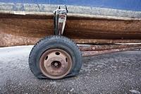 flat tyre.