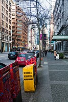 Scene in downtown Vancouver on West Hastings street.