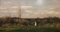 Spring landscape by Charles Francois Daubigny at the old national gallery in Berlin.