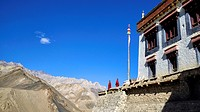 India, Jammu and Kashmir State, Himalaya, Ladakh, Indus valley, monks in the Buddhist monastery of Lamayuru (Yungdrung)