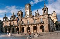 Main square and City Councill, Lugo, Region of Galicia, Spain, Europe.