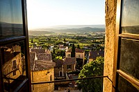 Landscape in the village of Boonieux in the Provence France Europe.