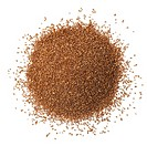 Heap of teff seeds on white background.