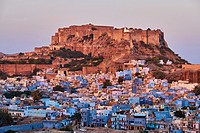 India, Rajasthan, Jodhpur, the blue city, Mehrangarh Fort.