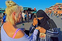 Place Djema el Fna, Marakesh, Morocco.