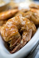 Deep fried prawns with coarse salt, Kuching, Sarawak, Malaysia
