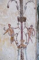 Ruined Roman Fresco in the Bay of Naples, Italy.